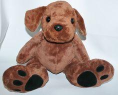 Floppy Chocolate Lab Plush Puppy Dog Lovey Stuffed Animal Labrador Retriever Toy