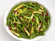 Summer Beans with Bacon Dressing Recipe : Food Network Kitchen : Food Network - FoodNetwork.com