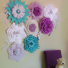Paper Flower Template, DIY Paper Flower, Paper Flower Backdrop, Flower Template…