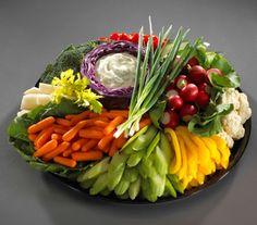 pretty veggie tray