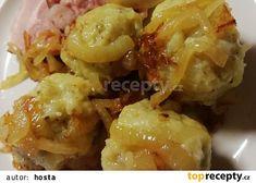 Chlupaté knedlíky z bramborákového těsta recept - TopRecepty.cz Baked Potato, Potato Salad, Cauliflower, Potatoes, Baking, Vegetables, Ethnic Recipes, Food, Cooking