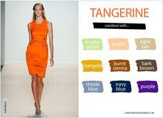 Combinar el color mandarina