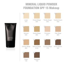Mineral Liquid Powder Foundation SPF 15 1 fl oz Hypoallergenic-For All Skin Type Foundation Brush, Powder Foundation, Espresso, Lipstick Primer, Lip Makeup, Makeup Stuff, Broad Spectrum, Skin Cream, Health And Beauty