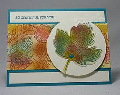 Lighthearted Leaves Collage Card