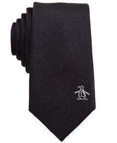 Penguin Baron Solid Logo Skinny Tie