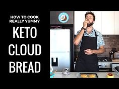 """Cloud bread is a great substitute for bread on the ketogenic diet. The term """"cloud"""" comes from the fact that its quite light and fluffy tasting, which comes from the egg whites being mixed and folded into the rest of the recipe. Carb Free Recipes, Keto Recipes, Bread Recipes, Dinner Recipes, Keto Food List, Keto Foods, Low Carb Burger Buns, How To Make Clouds, Meals Under 500 Calories"""