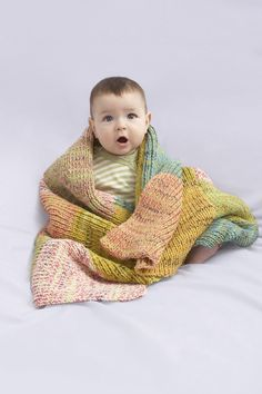 Sugar Hill Baby Throw in Lion Brand Cotton-Ease, a lovely project to keep your little one nice and cozy! Find this pattern and more inspiration at LoveKnitting.Com.