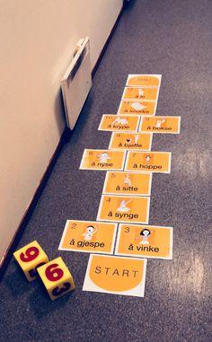 Hoppeord! | Kateterskuffen.no Language Activities, Preschool Activities, Cooperative Learning, Kids Learning, Norway Language, Barn Crafts, Kindergarten, Toddler Art, Games
