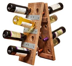 Our Small Folding Riddling Wine Rack makes a wonderful addition to any bar or table top. Solid wood wine rack handmade by craftsmen. Holds 12 bottles of wine. Wine Bottle Wall, Wine Glass Rack, Wood Wine Racks, Glass Bottle, Wine Barrel Furniture, Rustic Furniture, Industrial Furniture, Outdoor Furniture, Riddling Rack