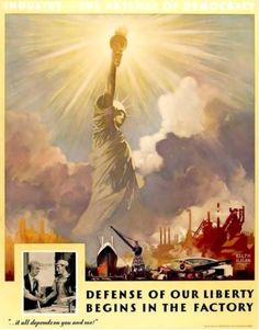 WWII factory propaganda poster