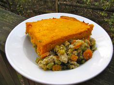 Shepherd's pie with a squash topping.
