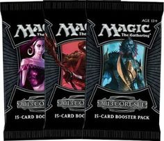 MagicTM 2013 Core Set Booster by Wizards of the Coast Games. $4.24. WOC39962 Magic 2013 Core Set Booster (1 Booster Pack) The Magic 2013 Core Set features 249 black-bordered cards, including randomly inserted premium versions of all cards in the set. The Magic 2013 Core Set is available in booster packs, intro packs, and fat packs Play Magic: The Gathering and discover why it is the worlds premier trading card game. Start with a deck of cards filled with potent spe...