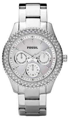 Fossil Damen-Multifunktionsuhr Ladies Dress Analog Quarz ES2860
