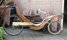 Martijn Monné from the Netherlands built this wood-framed short-wheelbase recumbent.
