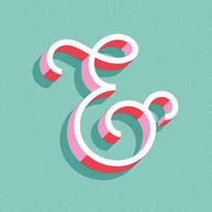 Love this ampersand! Techniques for Lettering with Illustrator - Skillshare Typography Love, Typography Letters, Graphic Design Typography, Lettering Design, Japanese Typography, Lettering Art, Calligraphy Letters, Ampersand Font, Tattoo Typography