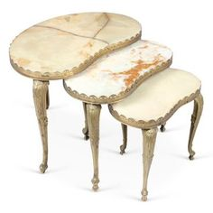 Check out this item at One Kings Lane! Onyx Nesting Tables, S/3
