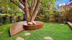 Cozy Backyard Bench Seating Area Design Landscaping Ideas (1)