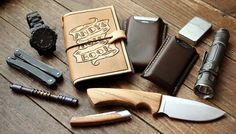 """Everyday Cutlery - """"Homemade Leather Edition"""" EDC by DocTools"""
