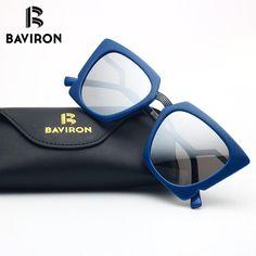 BAVIRON Big Frame Sunglasses For Women Mirrored Outfits Fashion Glasses Mirrored PC and Metal Single Bridge 9731
