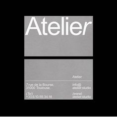 """Atelier—Furniture and Interior Design Studio. Visual identity and signage for our new """"concept"""" studio, up soon (maybe). Identity Design, Visual Identity, Logo Design, Typography Design, Identity Branding, Grid Design, Corporate Identity, Personal Branding, Lettering"""