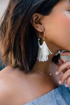 DIY Brass Fringe Earrings | HonestlyWTF
