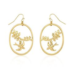#14k Matte Gold Bonded Dove #Earrings