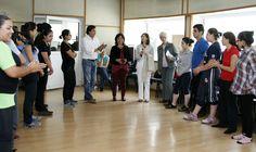 Cultura de la paz y diversidad cultural son los principios de SALUDARTE. La secretaria de Cultura, Lucía García Noriega y Nieto, mencionó que el trabajo de SALUDARTE es la educación artística y cultural.  Foto: Abril Cabrera A.