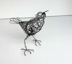 Original Handmade Wire Bird Sculpture KAIKOURA by wireanimals