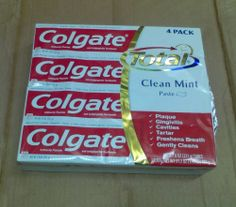 Colgate Total Clean Mint Paste Toothpaste 7.8 Ounce Tube (Pack of 4)