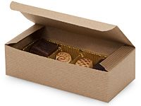 """1 lb. KRAFT PINSTRIPE Candy Boxes 7 x 3-3/8 x 2"""" - 100% Recycled Price: $29.00 Sale: $24.65 for 100"""
