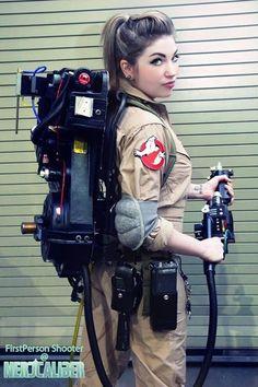 Destiny Nickelsen as a Ghostbuster