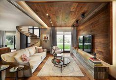Koray Yavuzer Mimarlık | American Walnut Parke #parquet #parke #woodflooring #parquetflooring #design #livingroom #architect #architecture #interiordesign #interior #homedesign #livingroom #stairs #Wallparquetdesign #hungarianherringbone | LANTANA PARKE