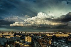 Cloud atlas #cumulonimbus #cloud #cityscape #bucharest #skyporn #blue