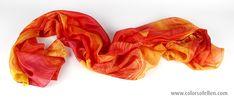 Handbeschilderde zijden sjaals 100-023