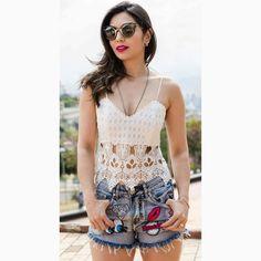 Jeans com Patches, sucesso nos anos 90, voltou com TU-DO! Que tal investir na 'trend' com um cropped incrível?#reginasalomao #SummerVibesRS #SS17 #momentoRS