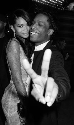 blissfully-chic: Chanel Iman and A$AP Rocky - 2013 VMAs, Brooklyn NY