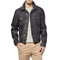 02-Denim Work Shirt with metal piping, Williamsburg Garment ...