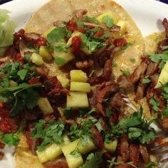 Tacos Al Pastor at Javi's, Midland, Texas.... Javis my most fav Mexican food here in midland. Yummy