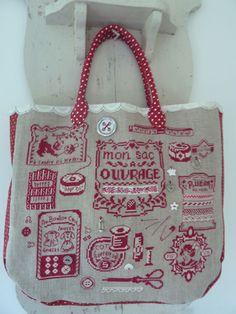 sac rouge toujours - des histoires à broder
