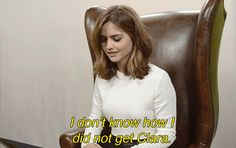 """Find out which Doctor Jenna got here !   Jenna Coleman Took Our """"Which Doctor Who Companion Are You"""" Quiz!"""