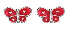 Red Butterfly Kids Earrings