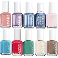 Essie 10-piece Nail Polish Set (1,130 DOP) ❤ liked on Polyvore featuring beauty products, nail care, nail polish, nail, essie, essie nail color y essie nail polish