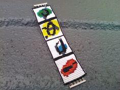 Bracelet en perle de rocaille multicolore : Bracelet par bijouxconcept