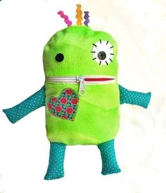 Kummerschlucker Ole – Sewing Instructions & Sewing Patterns – Sewing Tutorials at Makeri … - Diy & Crafts World Adopt A Monster, Monster Co, Monster Dolls, Sewing Projects For Kids, Sewing For Kids, Worry Monster, Boo And Buddy, Sewing Pillows, Sewing Toys