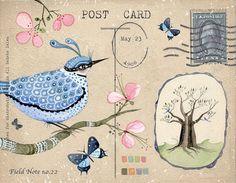 Field Note no.22  Art Print van LilyMoon op Etsy