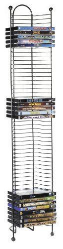 """Atlantic 63712035 Nestable 52 DVD/BluRay Games Tower - Gunmetal by Atlantic. $17.98. From the Manufacturer                MAKE ATLANTIC'S """"NESTABLE 52 DVD, BLU-RAY OR GAME TOWER"""" THE BASE OF YOUR DISC COLLECTION Atlantic's NESTABLE 52 BLU-RAY/DVD/GAME TOWER sports an attractive, modern design to highlight almost any home  or office décor.  Its efficient, space-saving design provides maximum DVD and BLU-RAY storage in a minimal amount of space. Durable steel construction with g..."""