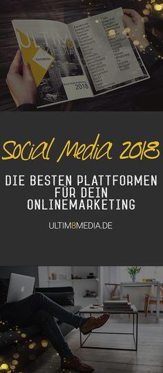 Onlinemarketing 2018 Social Media Plattformen, Social Media Marketing, Online Marketing, Youtube, Business, Social Media, Target Audience, Store, Business Illustration
