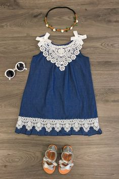 Denim & Lace Dress