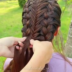 peinado 3 en 1 # two Braids connected French braids tutorial Braided Hairstyles Tutorials, Easy Hairstyles For Long Hair, Braids For Long Hair, Girl Hairstyles, French Braid Tutorials, Hairstyle Ideas, French Braid Hairstyles, Princess Hairstyles, Hairstyles 2018