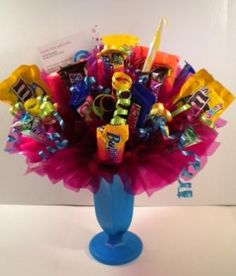 Candy Bouquets - Candy Gifts and Crafts, Candy Bouquets, Centerpieces, Handmade Crafts, Hand Painted Glassware